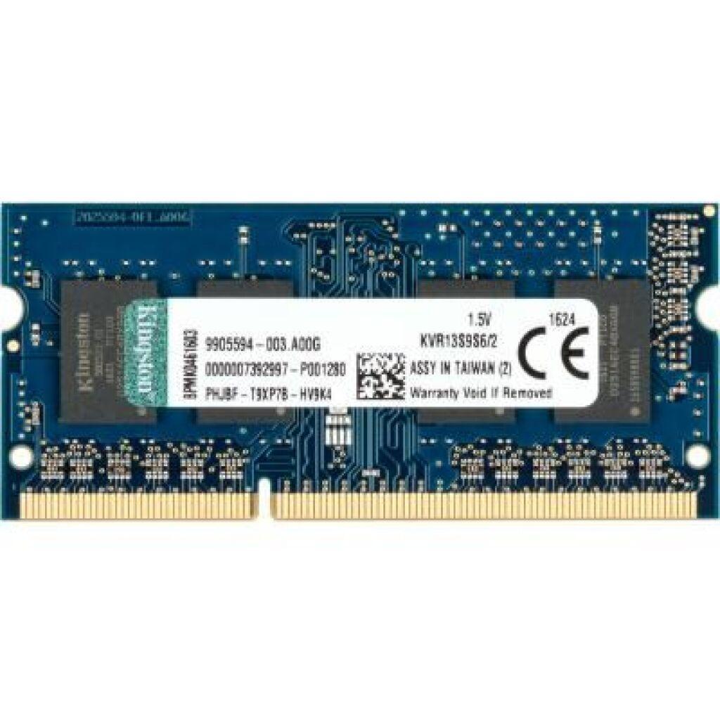 Модуль памяти для ноутбука SoDIMM DDR3 2GB 1333 MHz Kingston (KVR13S9S6/2)