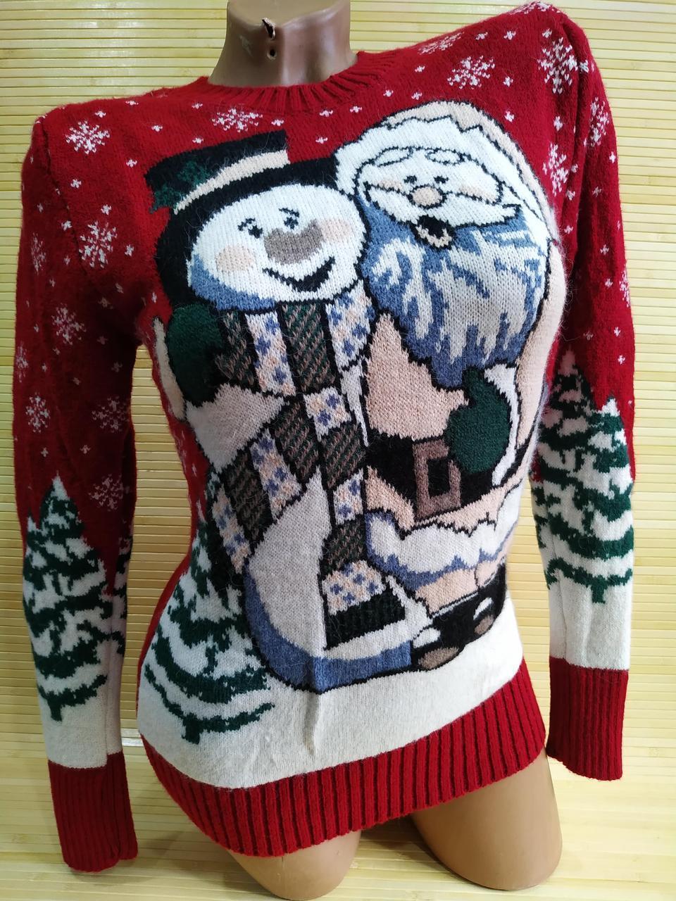 Новорічний светр п'яний Дід Мороз