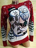 Новорічний светр п'яний Дід Мороз, фото 1