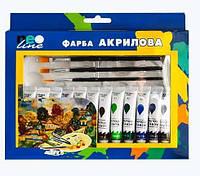 """Краска акриловая 12 цветов  """"Neo Line"""" № 1812-PAC"""
