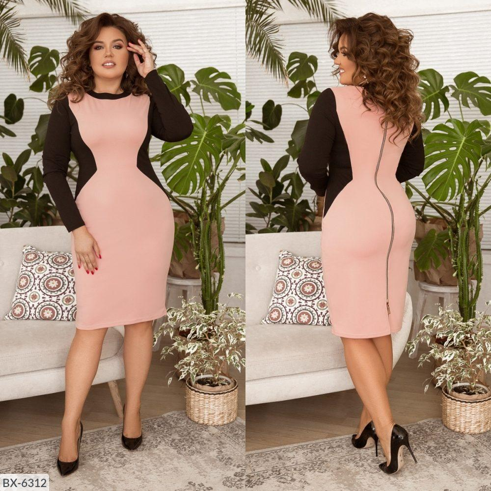 Стильное  платье  (размеры 48-58) 0209-98