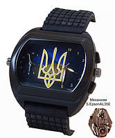 Часы мужские с символикой Украины, герб, черные