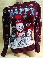 Светр новорічний сніговик, фото 1