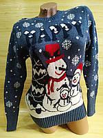 Светр різдвяний сніговик, фото 1