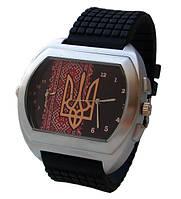 Мужские часы с символикой Украины, герб, двойной циферблат