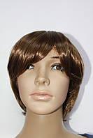Парик из искусственных волос короткая стрижка светло русый с челкой