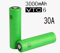 Высокотоковый аккумулятор для бытовой техники Sony VTC 6 18650 30А 3120, фото 1