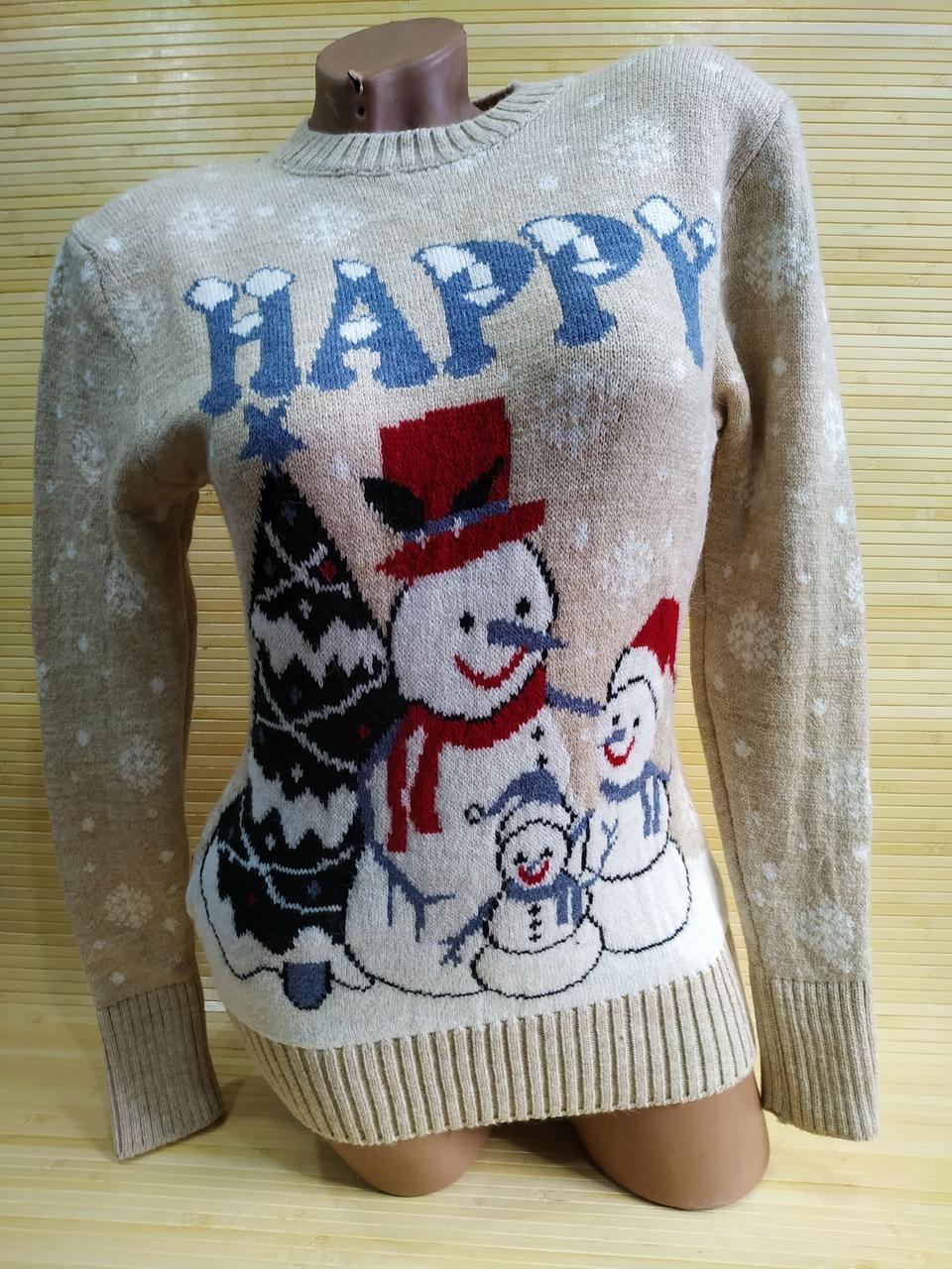 Свитер рождественский снеговик