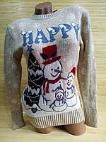 Свитер рождественский снеговик, фото 1