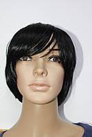 Парик искусственный короткая стрижка черные волосы