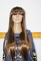 Парик из искусственного волоса длинные светло русые волосы с челкой