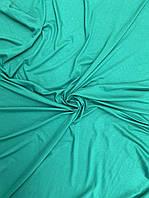 Кулир зеленый. Вискозная ткань. Футболочный трикотаж.