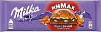 Шоколад Милка Milka Mandel Karamell молочный шоколад с карамелью и кусочками миндаля 300g Швейцария