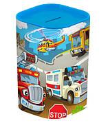 Скарбничка HEREVIN Money Box Великі машини Блакитний (161495-004)