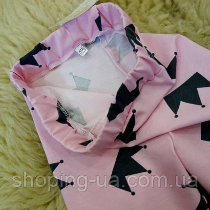 Детские леггинсы розовые с коронами Five Stars HD0272-104p, фото 2