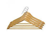 Набор вешалок для одежды МД 4 шт с нарезами 44,5х23х1,2 см RE05210/4