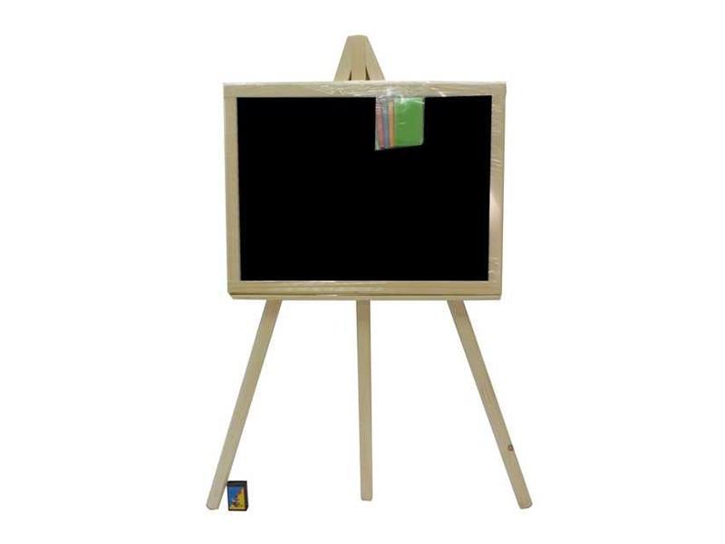 Доска для рисования на 3- ноге малая 48*35 см односторонняя (черная плоскость) смерека /1/