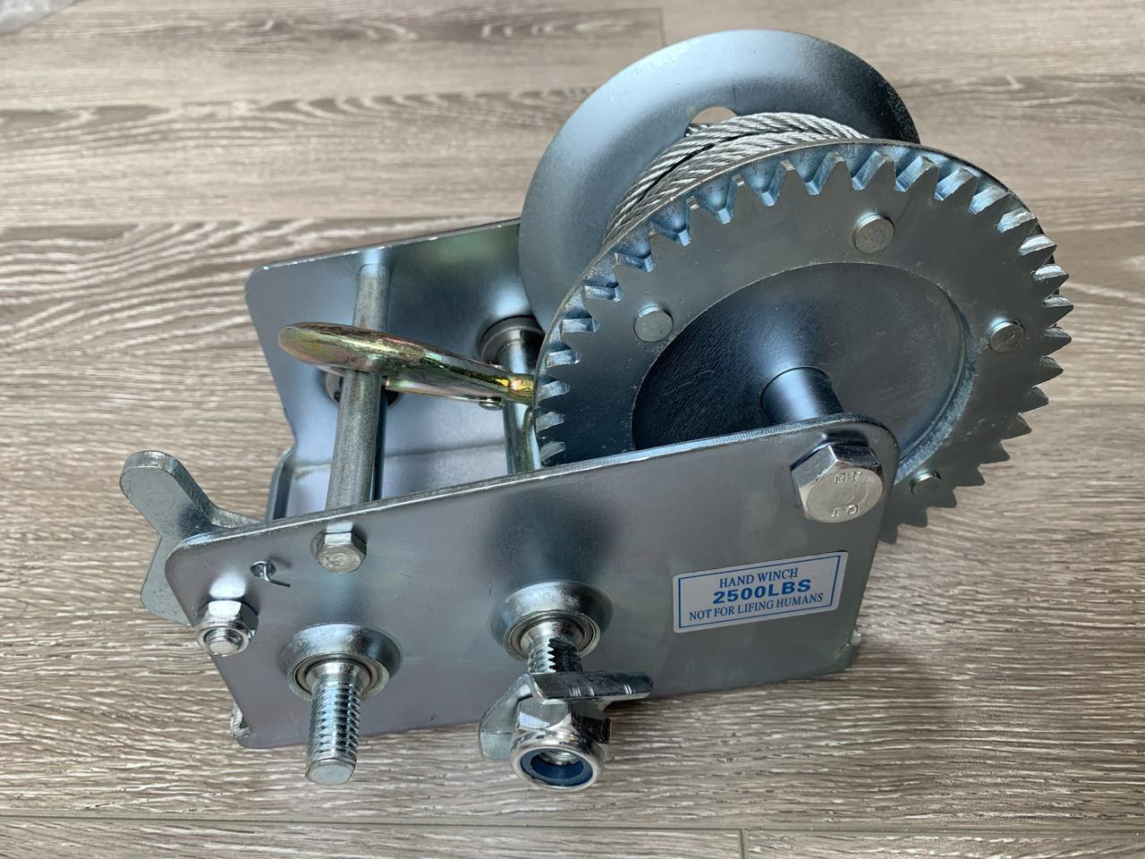 Барабанная Лебедка Hand Winch KC-2500 1500кг