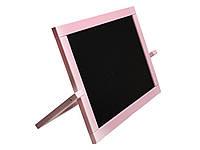 Мольберт двусторон. настольный Розовый (магнит, мел) 450*335см