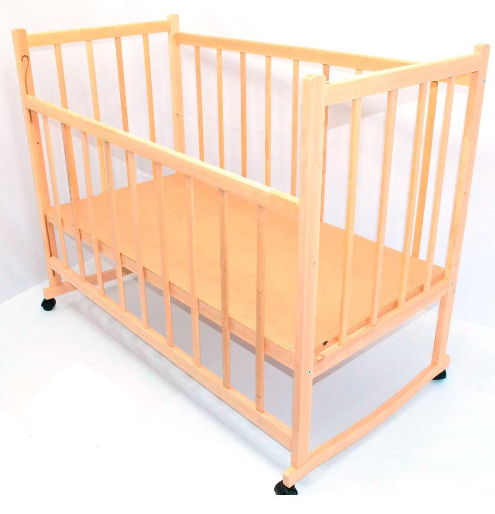 Кроватка-качалка деревянная №4 ольха светлая