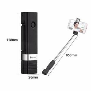 Держатель выдвижной монопод для selfi Hoco K4 Beauty Black + Bluetooth кнопка (18228)