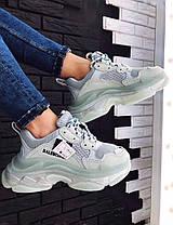 Женские кроссовки в стиле Balenciaga Triple S Clear Sole Mint, фото 3