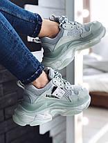 Женские кроссовки в стиле Balenciaga Triple S Clear Sole Mint, фото 2
