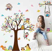Интерьерная наклейка на стену Детская Совы XL8192