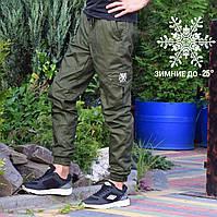 Зимние штаны с карманами Rextim Cargo Олива
