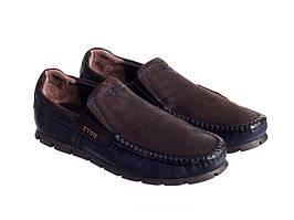 Мокасины Etor 15635-16654 сине-коричневые