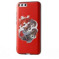 """Чехол для Xiaomi Mi 6, черный силиконовый бампер с ярким рисунком """"Инь-ян"""""""