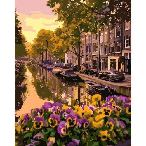 """Картина по номерам """"Амстердам"""" КНО3553 scs"""