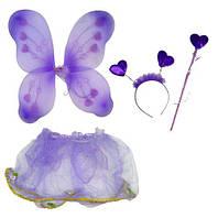 """Карнавальный костюм """"Блестящая бабочка"""" (фиолетовый)  sco"""