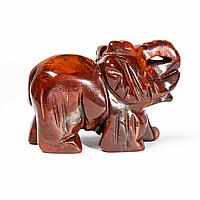 Статуэтка Слоник из красной яшмы, 502ФГЯ