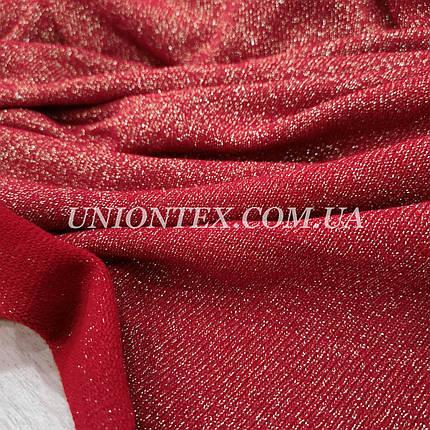 Трикотаж ангора с люрексом красная, фото 2