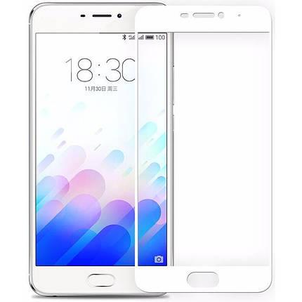 Защитное стекло Full Screen Meizu M6 Note белый, фото 2