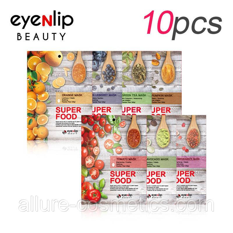 Зволожуюча тканинна маска EYENLIP Super Food Mask