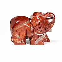 Статуэтка Слоник из красной яшмы, 503ФГЯ