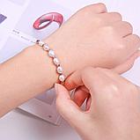 Жіночий браслет з білими перлами код 1704, фото 2