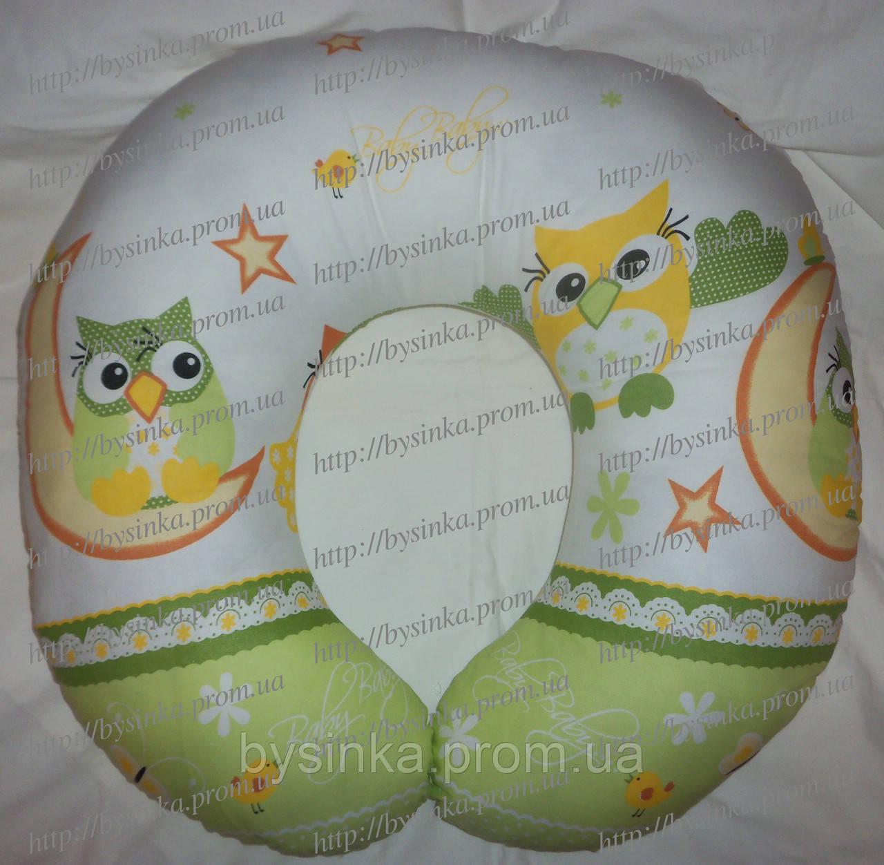 Подушка для беременных и кормления ребенка со съемной наволочкой. Сова
