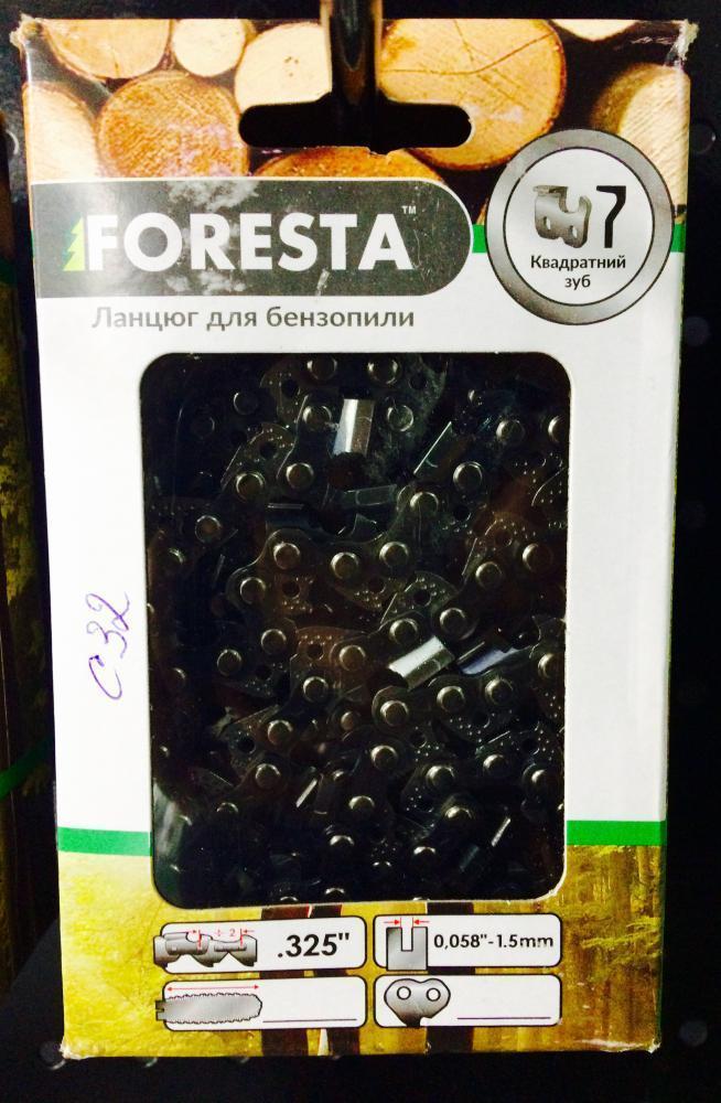 Цепь Foresta 64 ведущих звеньев, шаг 3.25, 32 зубов,1.5мм (суперзуб)