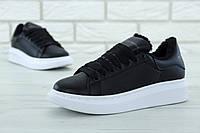 Женские зимние кроссовки Alexander McQueen Oversized Sneakers Winter с мехом 36
