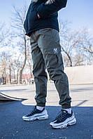 Молодежные штаны с карманами cargo (Летние) Olive (Олива)