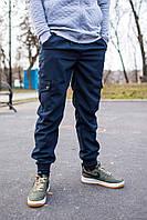 Темно-синие штаны карго с карманами рекстим, штаны cargo rextim