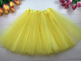 Юбка пышная Фатиног 30 см для девочки карнавальная юбка-пачка желтая