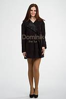 Пальто короткое шерстяное, ворот с отделкой каракульча - 04174 длина 80 см