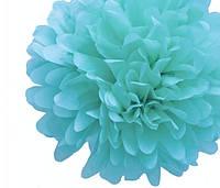 Бумажный помпон для украшения свадебного зала лайт аква