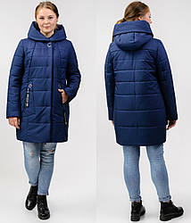 Куртка жіноча батальна демісезонна стьобана на силіконі, синя