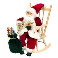 """Фигура """"Дед Мороз в кресле-качалке"""""""