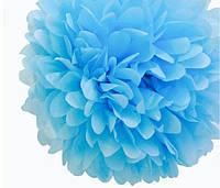 Бумажный помпон для украшения свадебного зала скай блю